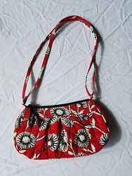 Vera Bradley red with black & white floral handbag