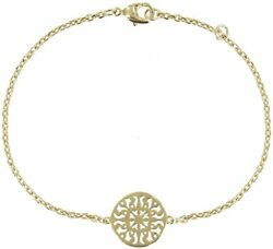 Les Poulettes Jewels - Gold Plated Bracelet - With Round Arabesques