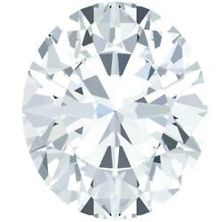 Oval Diamond Faceted Fab Moissanite Loose Stone