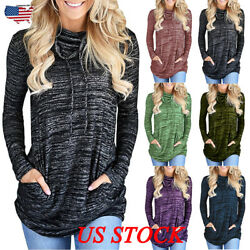 Plus Size Womens Long Sleeve Sweatshirt Ladies Casual Tops Blouse Sport T-shirt
