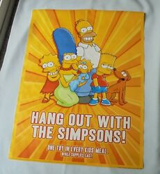 The Simpsons Family Portrait Burger King Window Decal Vinyl Poster Sign 2008