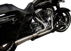 Trask Straight Assault 2-into-1 Stainless Exhaust For 2009-2016 Harley Touring