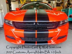 Pre-cut For Dodge Charger 15-22 Duel 10 Racing Stripes Vinyl Graphic Decal