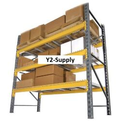 New Husky Rack And Wire Double Slotted Pallet Rack Starter 96w X 42d X 144h