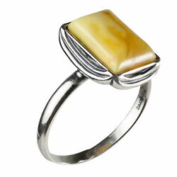 Sterling Silver and Baltic Butterscotch Amber Ring quot;Coraquot; $28.30