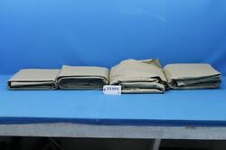 Lot Of 4 Cessna Citation Townsend Natural Almond Leather Hides 22395
