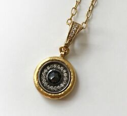 One Of A Kind 24k Yellow Gold Black Diamond Gurhan Necklace Pendant Jewelry