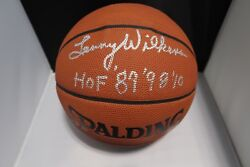 Lenny Wilkens Hof899810 Signed Autographed Full Size Indoor/outdoor Basketball