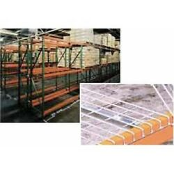 New Husky Rack And Wire Tear Drop Pallet Rack With Wire Deck-120w X 48d X 96