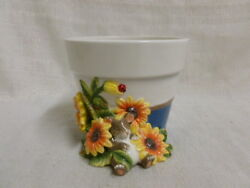 Charming Tails Spring Garden Planter 93/711 Mouse Sunflower New In Box
