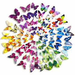 72 Pcs 3D Wall Decal Butterfly Wall Sticker Decals for Room Home Nursery Decor