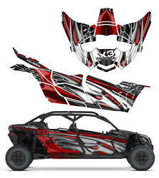 Can Am X3 Maverick Mac 4 Fluk Design Graphic Kit Wraps Decals Off Road 4x4