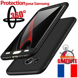 Coque Housse Etui Total 360anddeg Pour Samsung Galaxy S8 S9 Protection Verre Trempe