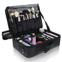 Primalour Large Makeup Train Case - Professional Cosmetic Travel Make Up Bag For