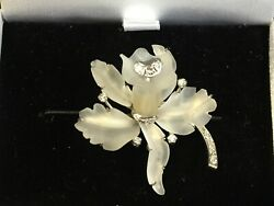 Amazing pre-loved Vintage White gold diamond and rock crystal brooch reduced!!!