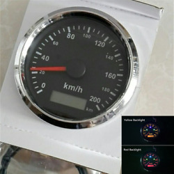 85mm Gps Speed Meter 200km/h Odo Mileage Signal Indicator For Car Boat Truck Atv