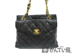 CHANEL chain Tote (material) caviar skin gold shoulder bag over (1722