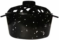 Uniflame Porcelain Coated Lattice Top Steamer- Black With White Speckles