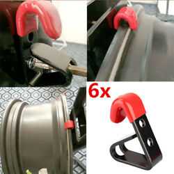 Wheel Rim Hub Wall Hanger Hook Rubber Sleeve For Car Store Show Exhibition Room