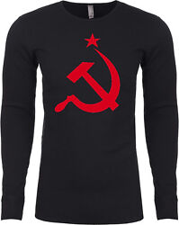 Buy Cool Shirts Soviet Union T-shirt Red Hammer And Sickle Long Sleeve Thermal