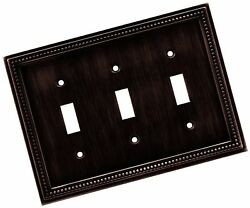 Brainerd 64408 Beaded Triple Toggle Switch Wall PlateSwitch PlateCover Ven...