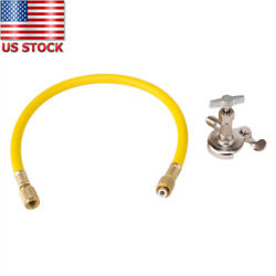 Car Auto AC R134a R410a Can Tap Tapper Refrigerant Recharge Hose Kit 800-4000PSI