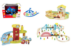 Carousel Wooden Train/farm/car Park Kids/toddlers Play Sets - Brand New And Boxed
