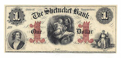 186x The Shetucket Bank, Norwich, Ct - One Dollar Obsolete Remainder Note 2