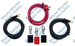 Big 3 Heavy Duty Ofc Pure Copper Cable Wire Kit Upgrade 1/0 Awg Gauge Alternator
