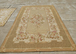 11.6and039 X 9and039vintage Living Room Decor Needlepoint Floral Handmade Rug Rose Bouquet