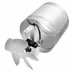 Booster Fan Inline Duct Vent Blower for HVAC Exhaust and Intake 4 Inch 100 CFM
