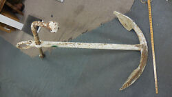 Vintage Ships Anchor--very Old And Heavy--local Pickup Onlyandmdashseafood Resturant