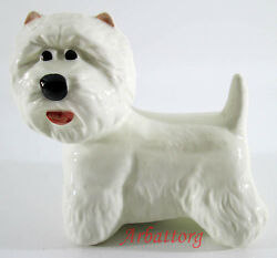 Dog West Highland White Terrier Porcelain Figurine Statuette Realistic #30