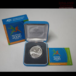 Ram 2006 Silver Proof 5 Melbourne Commonwealth Games Baton Relay Coin