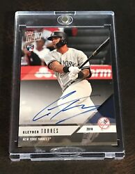 2018 Topps Now Platinum Members Only Gleyber Torres Autograph Card - Very Rare