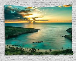 Large Sea Scenery Tapestry Wall Hanging Beach Tapestry Home Decor US Local Ship $15.69