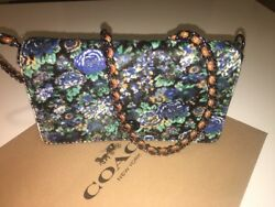 NWT COACH 1941 Dinky Wild Flower Printed Velvety Haircalf Crossbody Bag 38209