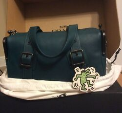 NWT Coach X Keith Haring MAILBOX Bag EMERALD Early Spring 2018 300 made SOLD OUT