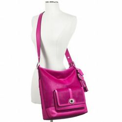 NWT Coach 21158 Legacy Fushsia Haircalf Large Pocket Duffle Bag msrp $1400