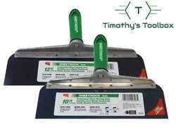 Usg Sheetrock Drywall Offset Taping Knife Combo - 10 And 12 Blue Steel