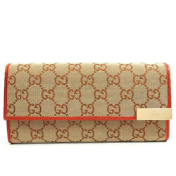 Gucci GG pattern chain two-fold long wallet canvas 269541478442 Purse (7285