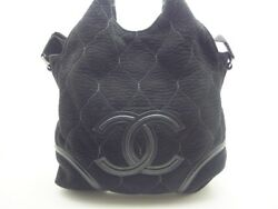 [CHANEL bag chain shoulder here mark suede Mouton 435 (19320