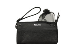 Kenneth Cole Reaction Black RFID Clutch Wristlet Wallet w Portable Phone Charger $23.49