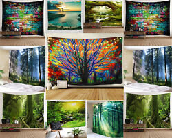 US SHIP Tapestry Wall Hanging Scenery Theme Tapestry Wall Hanging for Home Decor