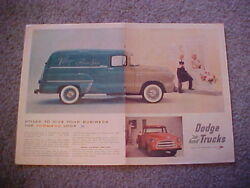1955 Dodge C3 Pickup/panel Truck Full-color Large Vintage Ad From Private Estate