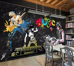3d Paint Music 848 Wall Paper Exclusive Mxy Wallpaper Mural Decal Indoor Wall Aj
