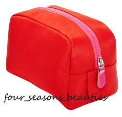 Macy#x27;s Red Makeup Cosmetic Purse Pouch Clutch Case Gift Travel Bag $3.99