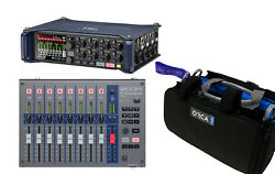 Zoom F8n Field Recorder With Zoom F-control Mix Desk And Orca Or-27 Mixer Bag