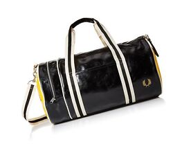 Fred Perry Men's Classic Barrel Bag BlackYellow One Size