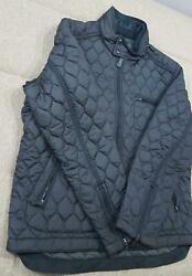 Coach Men's Bowery Quilted Racer Jacket Black Large Or Xlarge